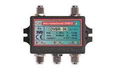 """Ivo DVBR-06 aktivní rozbočovač 4x výstup""""F"""" 20dB zisk"""
